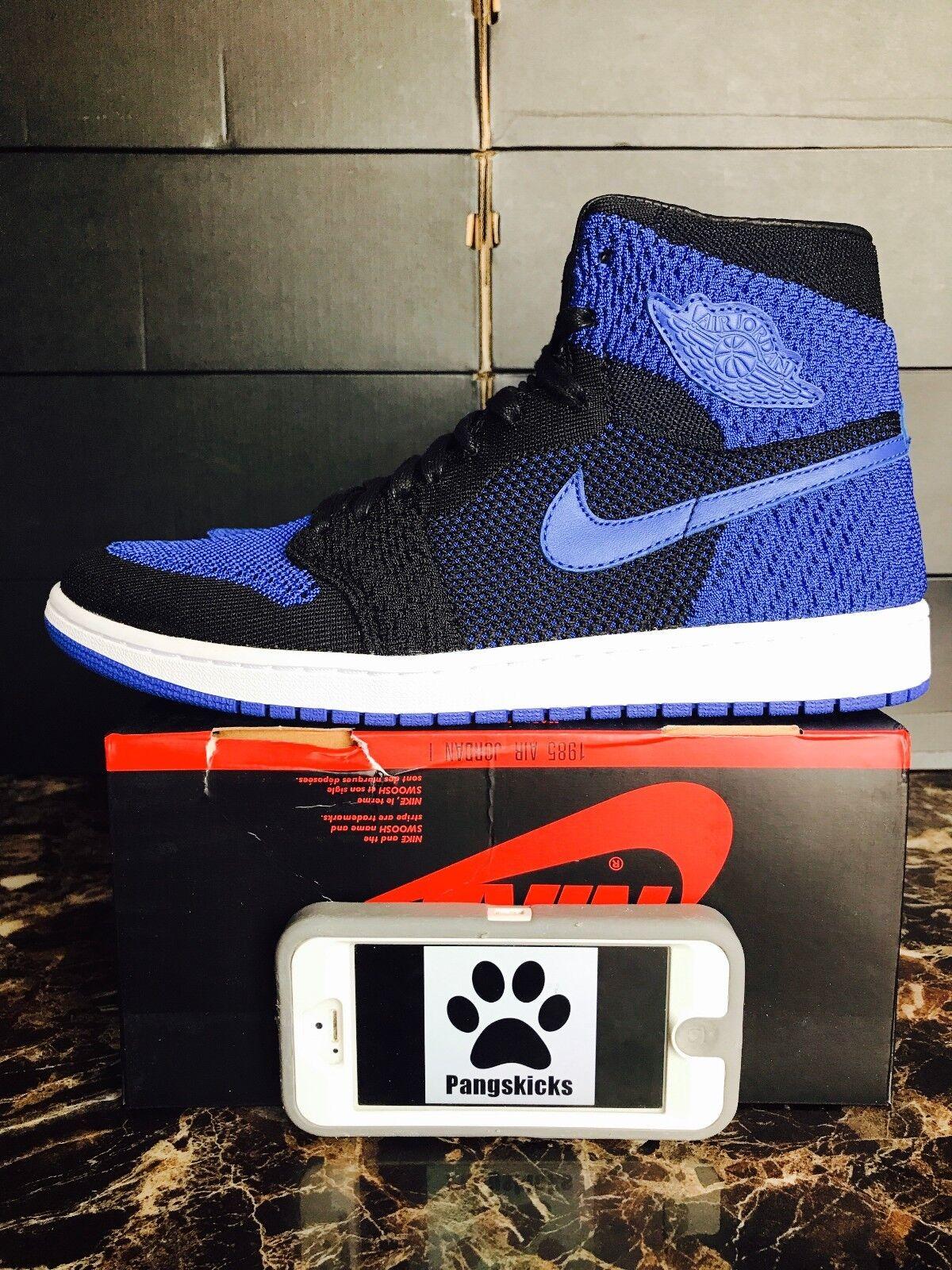 Nike Air Jordan 1 Retro High Flyknit Royal Blue Black 919704-006 Comfortable Cheap and beautiful fashion