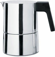 Alessi - Pl01/6 - Pina, Espresso Coffee Maker - 6 Cup, 30 Cl Capacity