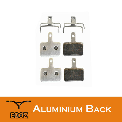 2 Pr Lightweight Bike Semimetallic Disc Brake Pads AL Back For SHIMANO M446