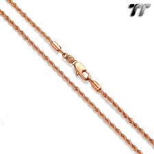 TT 2.0mm Rose Gold Filled Chain Necklace 60cm Length (CF136Z)