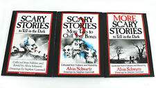 Scary Stories To Tell In The Dark Book Set Volume 1,2,3, original drawings New