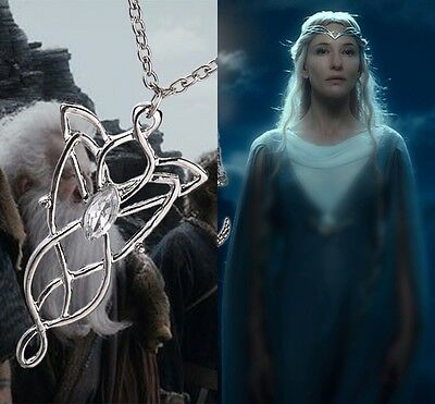 Stylish Arwen Evenstar Wizard Princess Tone Pendant Necklace Lord of the Rings