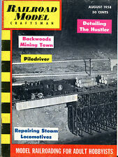 Railroad Model Craftsman Magazine August 1958 The Hustler EX 072216jhe