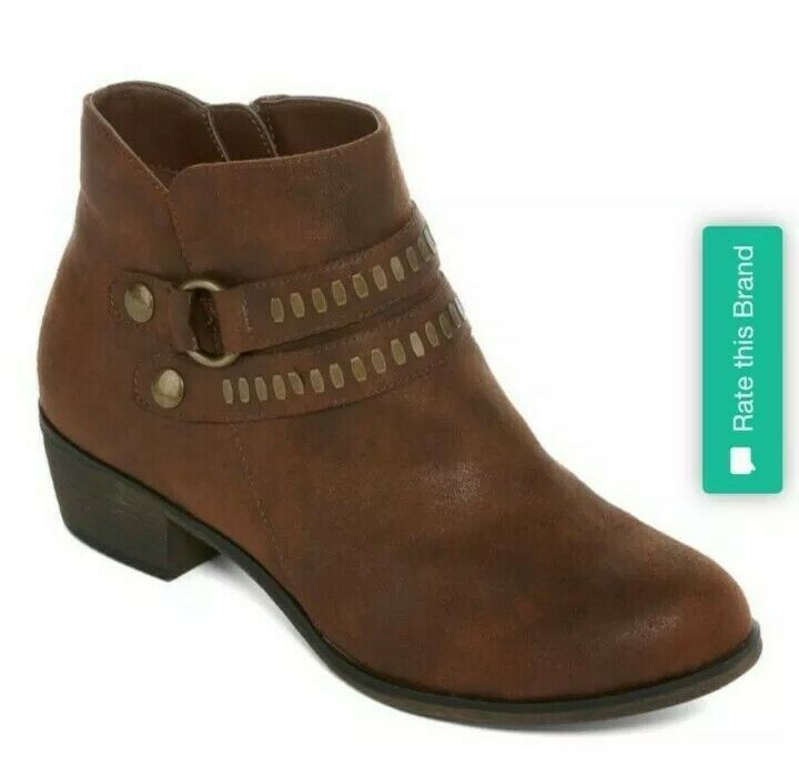 a.n.a Brown Addie Booties Size 8.5 - image 3
