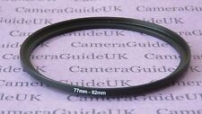 77mm to 82mm Male-Female Stepping Step Up Filter Ring Adapter UK 77mm-82mm