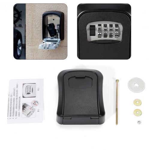 4 Digit Password Key Box Safety Hidden Lock Case  Padlock Realtor Wall Mounted