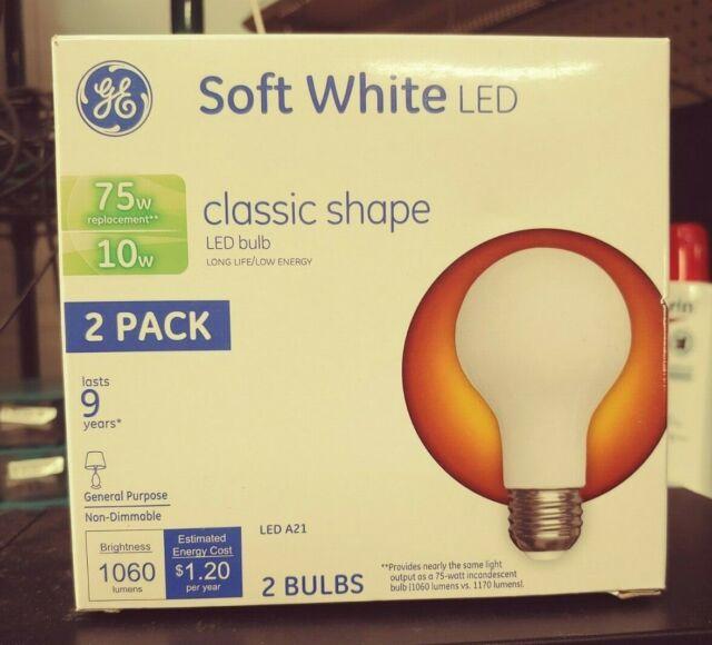 New 64-Pack GE 9W LED Light Bulbs 60w Watt Replace Soft Warm White A19 $99