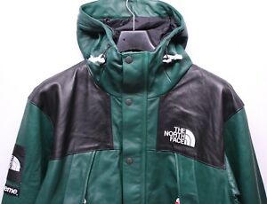7bae6f4e9 Details about Supreme The North Face TNF Mountain Leather Green Parka  Jacket Men's XL FW18 New