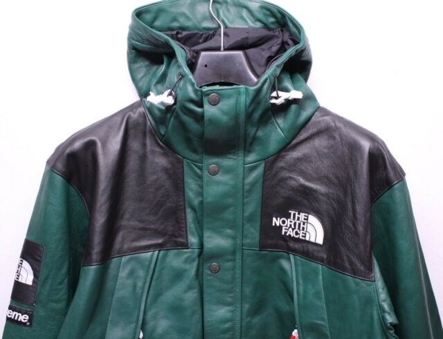 Supreme The North Face Tnf Mountain Leather Green Parka Jacket Mens Xl Fw18 New