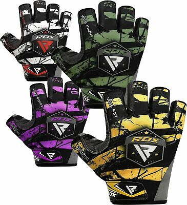 RDX Weight Lifting Gloves Fitness Gym Gloves Training Body Workout RD