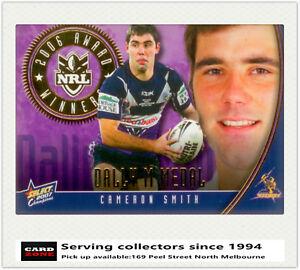 2007-NRL-Champions-Medal-Card-M1-Cam-Smith-Dally-M-Medalist-2006