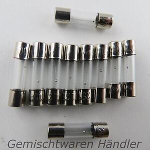 10x-3-15A-Feinsicherung-Glassicherung-Traege-20mm-1-2-3-15-4-5-8-10-A-Sicherungen