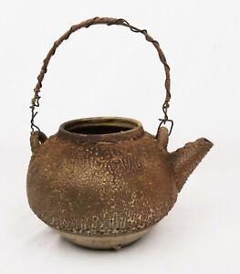 Antique-Japanese-Cast-Iron-Tetsubin-Teapot-No-Lid