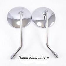 Universal Chrome Motorcycle Motorbike Mirrors for Honda Suzuki Kawasaki 10m Y4M1