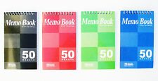 4pk Spiral Memo Pad Books Narrow Lined Note Books 3 X 5 Amp 50 Sheets Pages Each