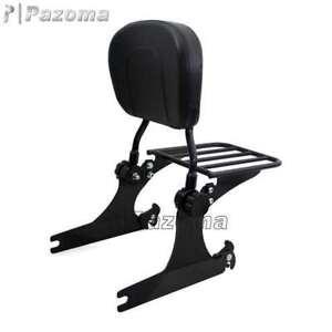 Detachable Passenger Backrest Sissy bar Rack For 06-17 DYNA STREET BOB FXDB Motorcycle Accessories