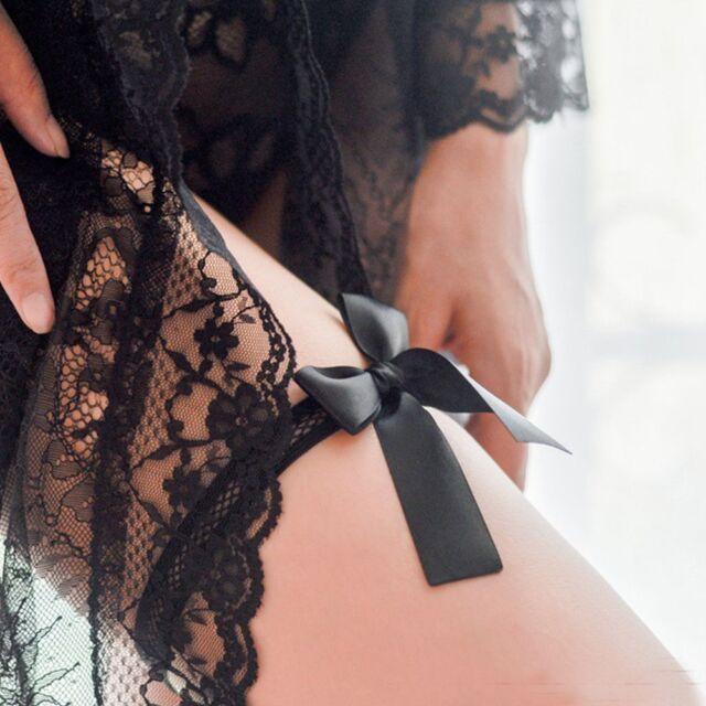 Fashion Women Lady Sexy Stocking Polyester Silk Bowknot Leg Ring Garters