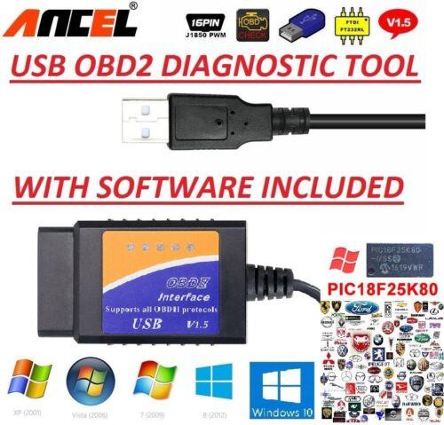 FIAT ALFA LANCIA OBD2 USB Original Car Code Scanner DIAGNOSTIC TOOL Interface