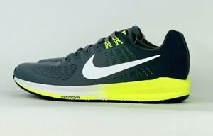 5bc1a0b3ed265 Nike Air Zoom Structure 21 Running Shoe Grey Volt White 904695-007 ...