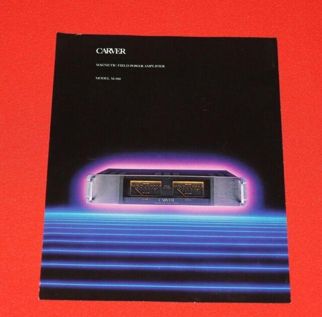 Vintage Carver M-500 Stereo Power Amplifier Brochure (Brochure Only)