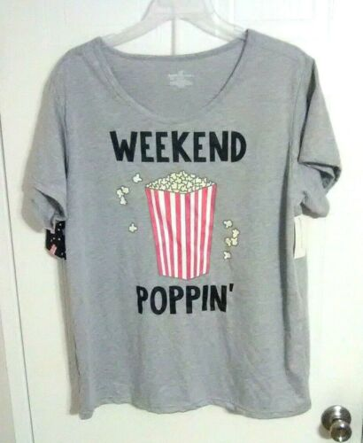 Bobbie Brooks Woman/'s Shirt /& Shorts Pajama Set WEEKEND POPPIN/' Plus Size 3X