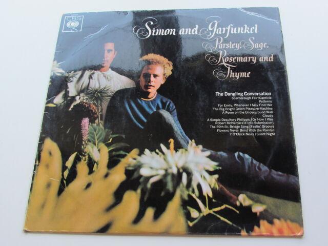 SIMON AND GARFUNKEL Orig 1966GB Estéreo LP Perejil, Sage Rosemary and tyhme