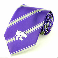 Kansas State Wildcats Stripe Mens Necktie NCAA University College Gift Tie New