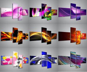 quadri moderni astratti 160x70 cm composizione con 4