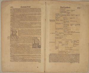 J-F-Kurfuerst-von-SACHSEN-Orig-Doppelblatt-um-1570-Reformation-Martin-Luther