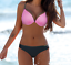 2018 Bikini RITA Push-up Pink Graphite Glitter Mermaid Straps Quality GABBIANO