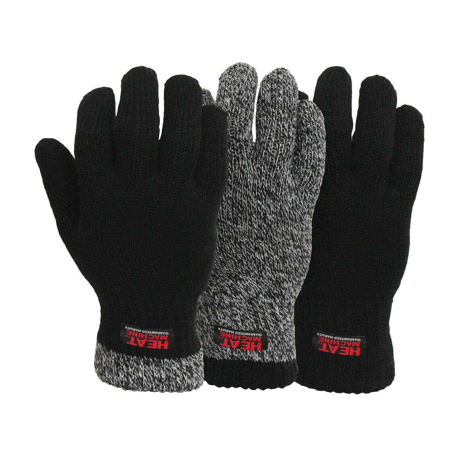 Men's Heat Machine Warm Winter 2.3 Tog Double Insulated Thermal Gloves L/XL