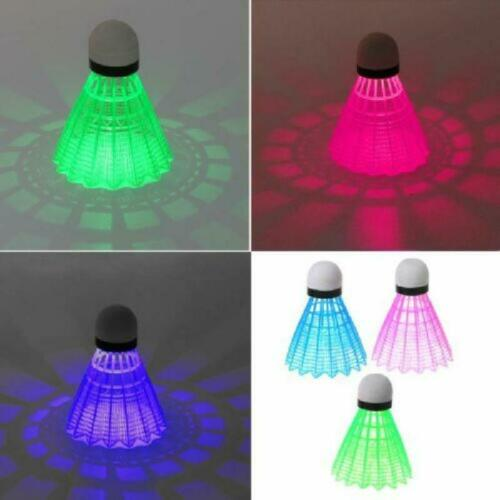 3pcs LED Luminous Badminton Dark Night Colored Plastic Glowing Foam Shuttlecocks