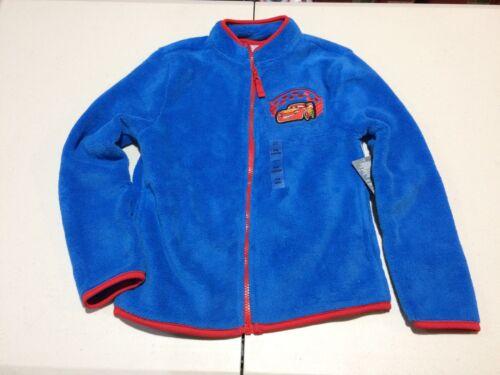 NWT Disney Store Boy Fleece Jacket Cars 3 Lightning McQueen 7//8