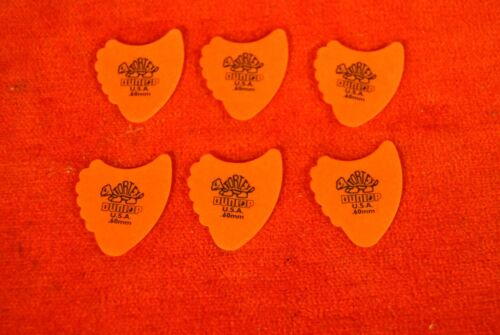 LOT DE 6 MEDIATORS DUNLOP TORTEX FIN 0.60mm 414R.60