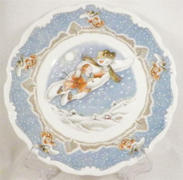 Royal Doulton Snowman Plate Walking In The Air Childs Childrens Vintage