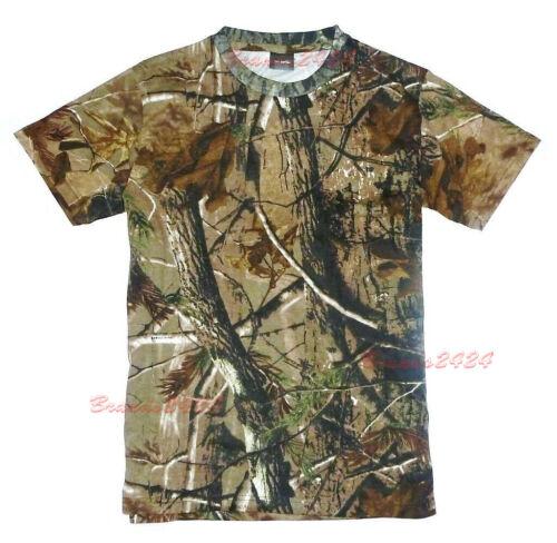 HUNTERS T-SHIRT Mens big sizes S-8XL oak tree camo cotton fishing hunting top