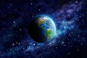 VLIES Fototapete-PLANETEN- -Erde Mond Galaxy Sternen Weltall Universum 1284V