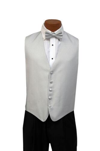 Light Silver Boys Medium Andrew Fezza New York Stardust Openback Vest w/ Bow Tie