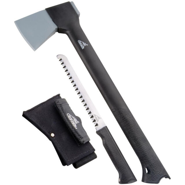 "Gerber Gator 15"" Axe Saw Combo with Sheath Camp Hatchet 1420 22-41420 NEW"