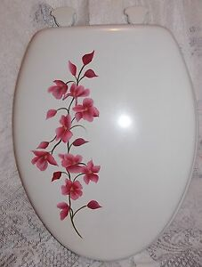 Hand Painted Magnolia Toilet Seat Choose Color Elongated