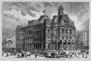 Image is loading POST-OFFICE-NEW-YORK-POSTAL-HISTORY-1870-ARCHITECTURE-