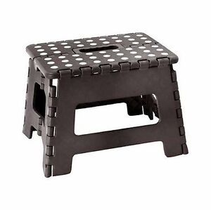 Admirable Details About Jms Black Small Plastic Step Stool Folding Multi Purpose Heavy Duty Made In Uk Ibusinesslaw Wood Chair Design Ideas Ibusinesslaworg