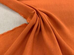 Wiltshire-Flax-Linen-Blend-Orange-140cm-wide-Curtain-Upholstery-Fabric