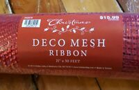 Hobby Lobby Red Christmas Mesh 21 In X 30 Ft Deco Mesh Ribbon Holiday