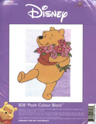 """* NUEVO * Winnie The Pooh Kit Punto de Cruz /""""Pooh Bloque De Color/"""""""