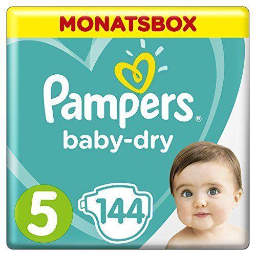 Pampers Baby-Dry Windeln, Gr.5, 11-16kg, Monatsbox, 1er Pack (1 x 144 Stü