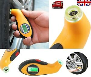 Lcd Digital Tyre Air Pressure Gauge For Auto Car Motorcycle Uk Seller Ebay