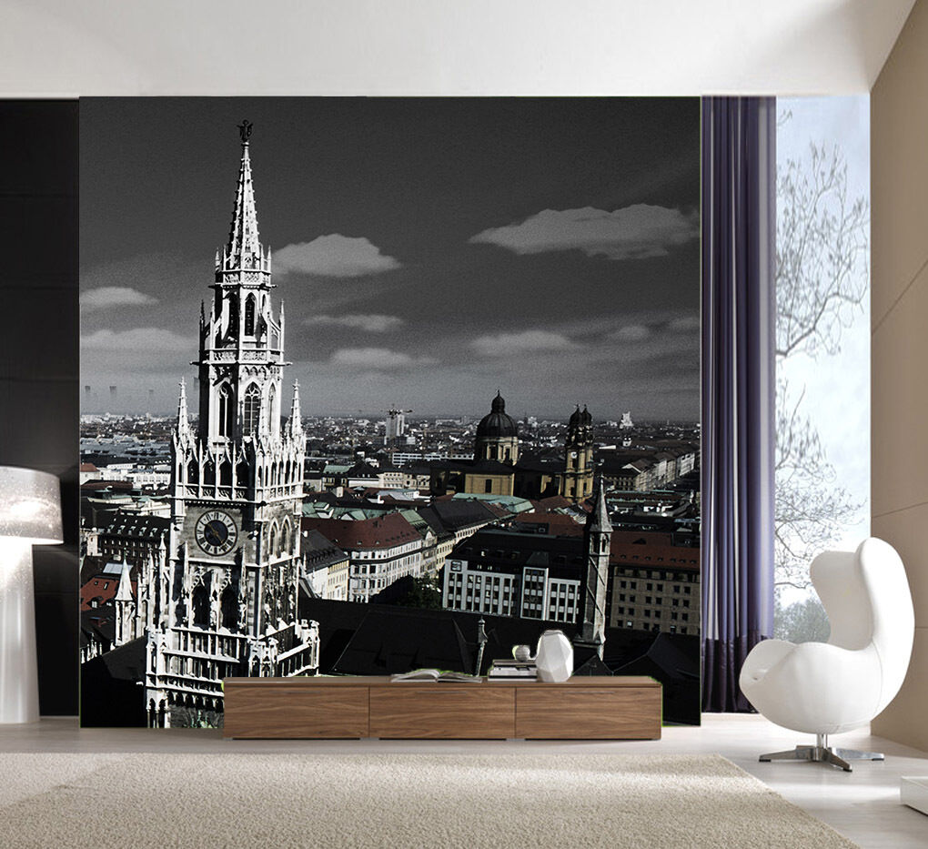 3D Bell Tower City Building Paper Wall Print Wall Decal Wall Deco Indoor Murals