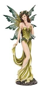 "MEADOW LEGENDS COLLECTION ELEMENTAL FAIRY THE EARTH FIGURINE STATUE ELEGANT 12""H"