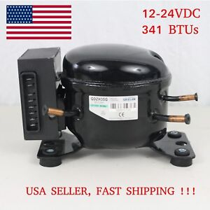 12v 24v Dc Refrigeration Compressor Fridge Freezer Marine Solar Qdzh35g R134a Ebay